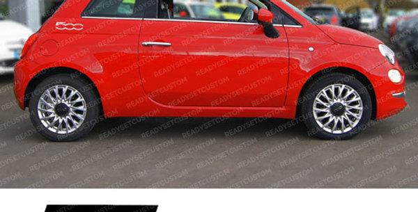 Pair of Fiat 500 Side Panel Decals 22cm x 5.6cm