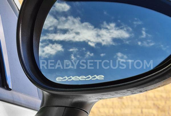 3x Abarth Esseesse Wing Mirror Decals