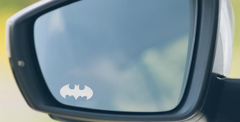 3x Batman Wing Mirror Decals