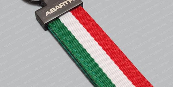 Italian Flag Keychain for Abarth