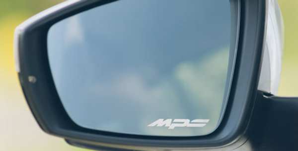 3x Mazda MPS Wing Mirror Decals - Etched Glass