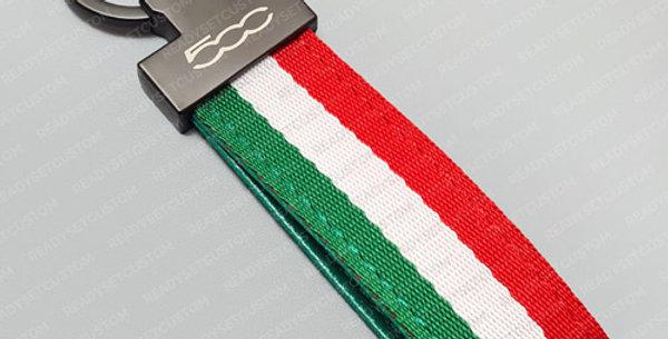 Italian Flag Keychain for Fiat 500