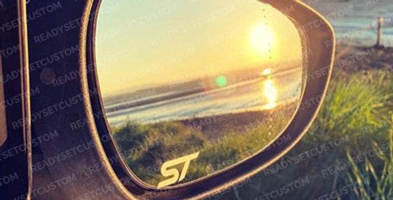 3x Ford ST Wing Mirror Decals - Fiesta Mondeo Focus