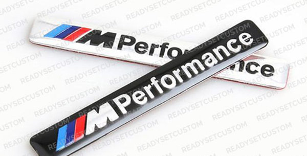 BMW M Performance 3D Aluminium Sticker