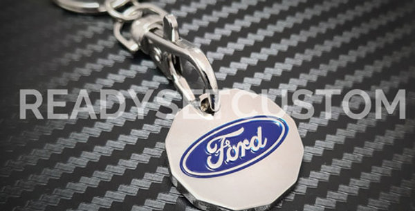 Ford ST Shopping Trolley Coin Keychain