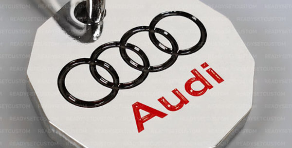 Audi Shopping Trolley Coin Keychain