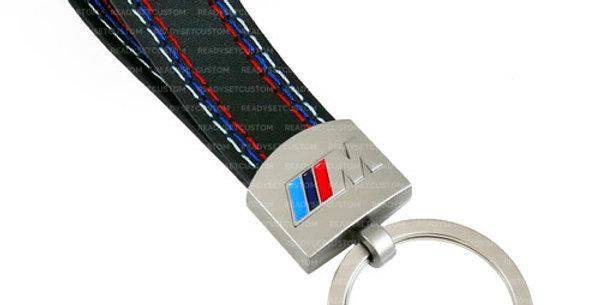 BMW M Faux Leather Keychain