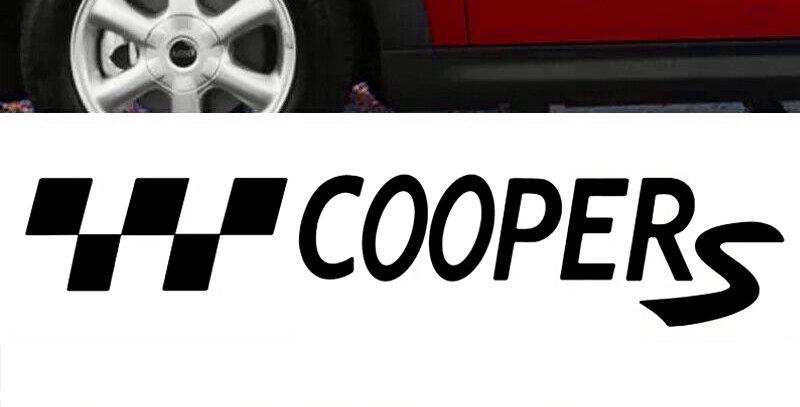 Pair of Mini Cooper Decals