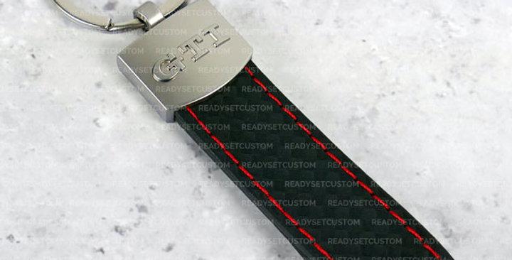 GTI Faux Leather Keychain