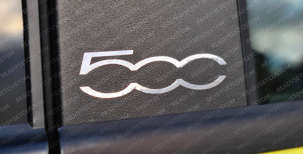 Pair of Fiat 500 Door Pillar Decals