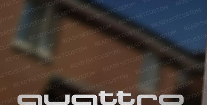 Pair of Quattro Window Stickers for Audi