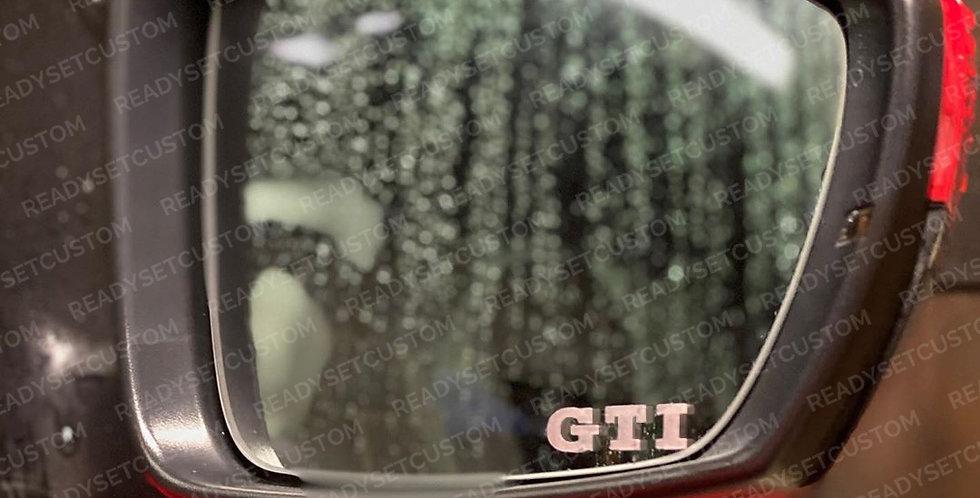 3x VW GTI Wing Mirror Decals