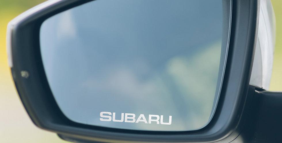 3x Subaru Wing Mirror Decals