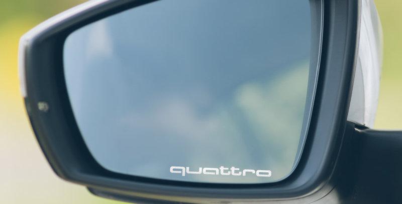 3x Audi Quattro Wing Mirror Decals