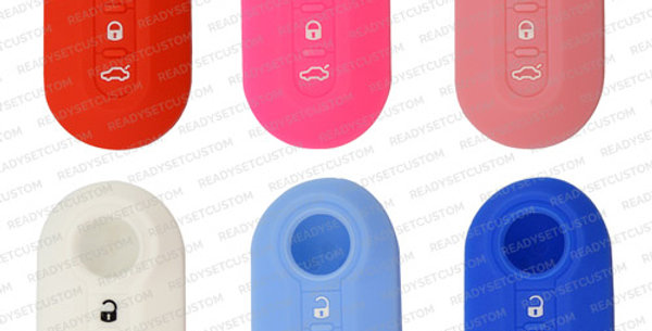 Protective Silicone / Gel Key Cover for Fiat 500, 500L, Abarth