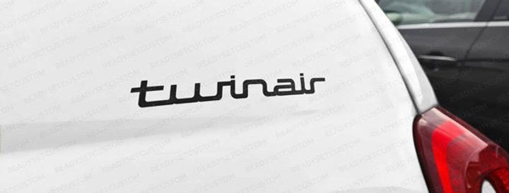 Fiat 500 Twinair Bootlid Decal
