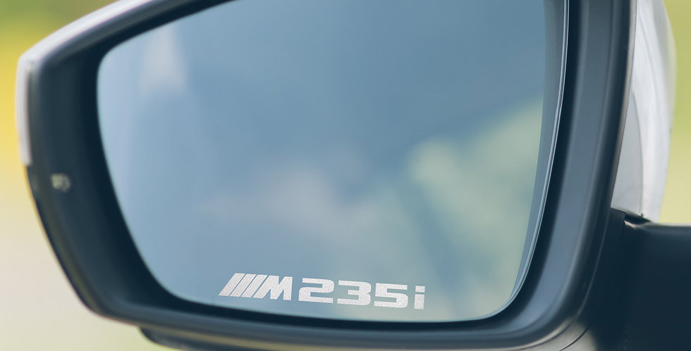 3x BMW M235i Wing Mirror Decals
