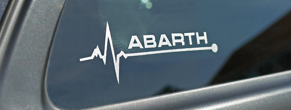 Abarth Heartbeat Decal - Gloss, Matte, Etched Glass