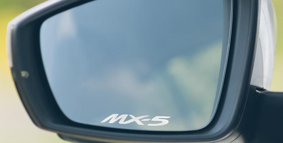 3x Mazda MX5 Wing Mirror Decals