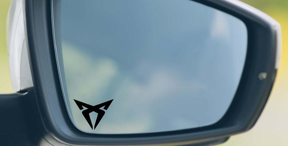 3x Cupra Wing Mirror Decals
