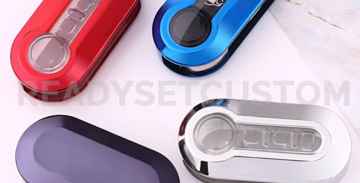 Metallic Protective Key Case / Cover for Fiat 500, 500L, Abarth