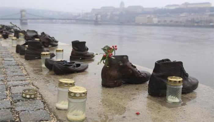 No más zapatos vacíos. Memorial del Holocausto, Budapest.