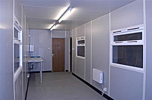 40ft office  lined and insulated interio