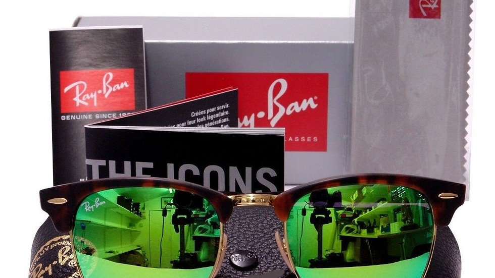 Ray Ban Clubmaster  Sunglasses Green Mirror