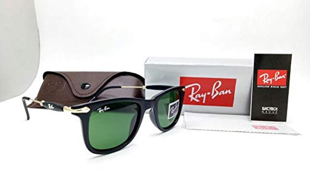 I'm a ProductRay-Ban New Wayfarer RB  Matte Green  Sunglasses Black & Green