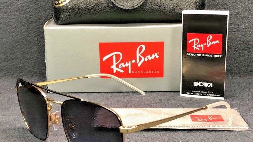 Ray Ban RB Gold on top Black / Dark Grey Gradient  Sunglasses