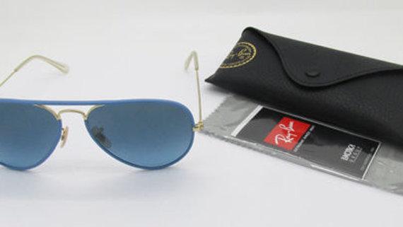 Ray-Ban RB aviator full color  blue frame lenses sunglasses