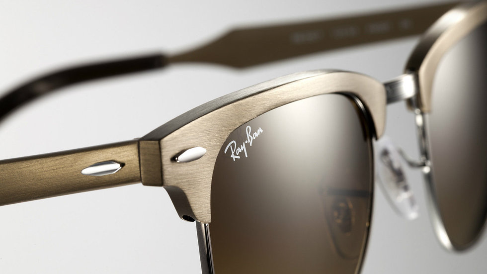 Ray-Ban ALUMINIUM CLUBMASTER  Gold Sunglasses RB