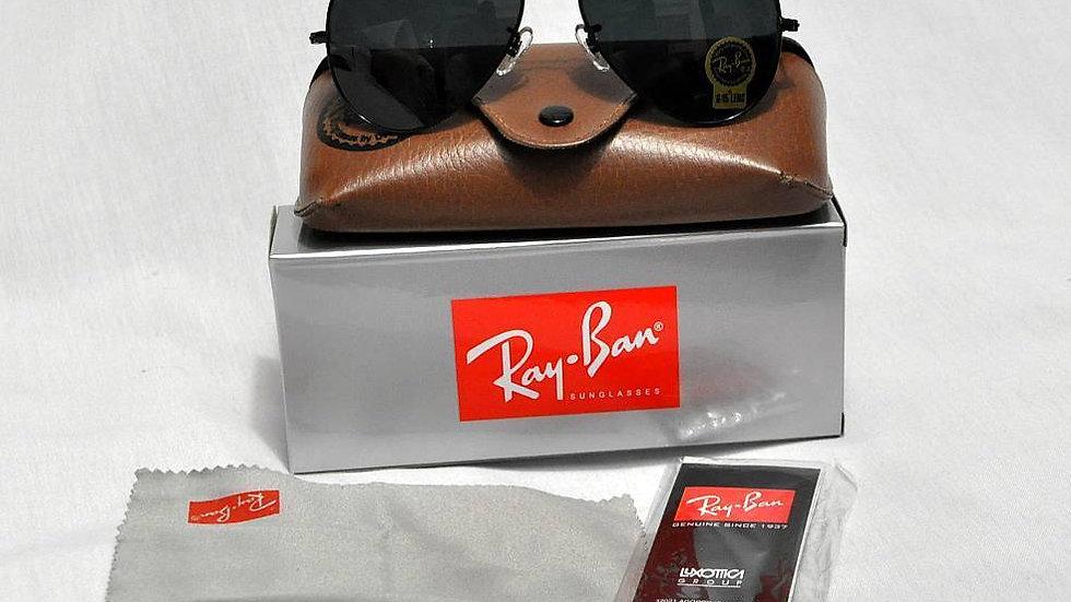 Ray Ban Aviator Classic Black Frame GREEN Sunglasses