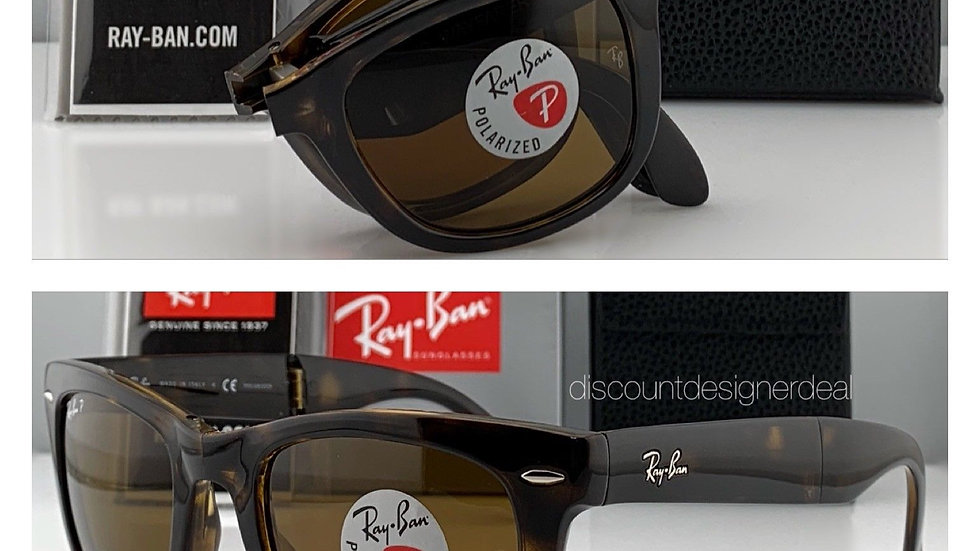 Ray-Ban RB Folding Wayfarer Sunglasses Brown