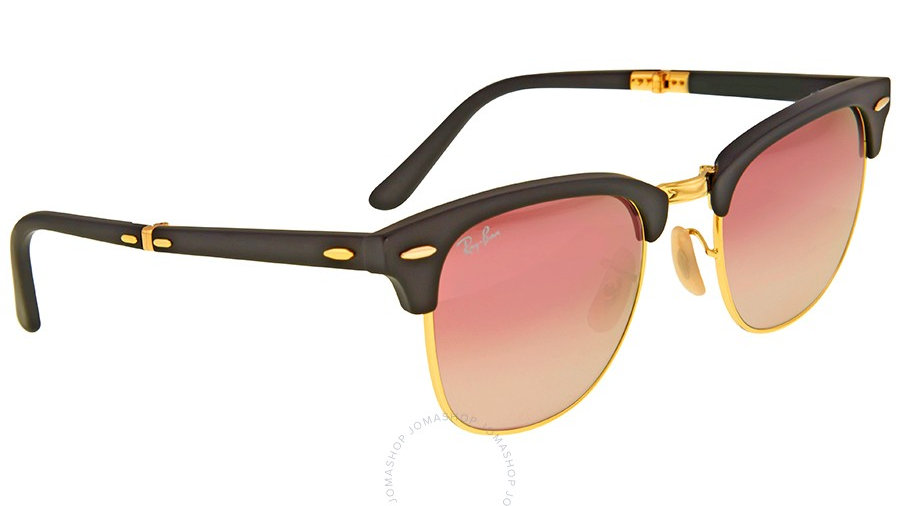 Ray Ban Clubmaster RB Red Havana Sunglasses Lens