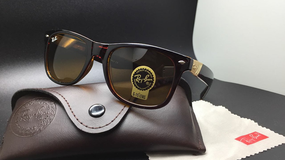 Ray-Ban New Wayfarer RB Matte Black Sunglasses Blue Lens