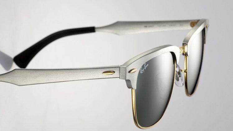 Clubmaster Silver Gold Sunglasses