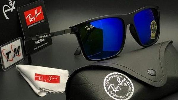 Ray Ban New Wayfarer Sunglasses Black & Blue