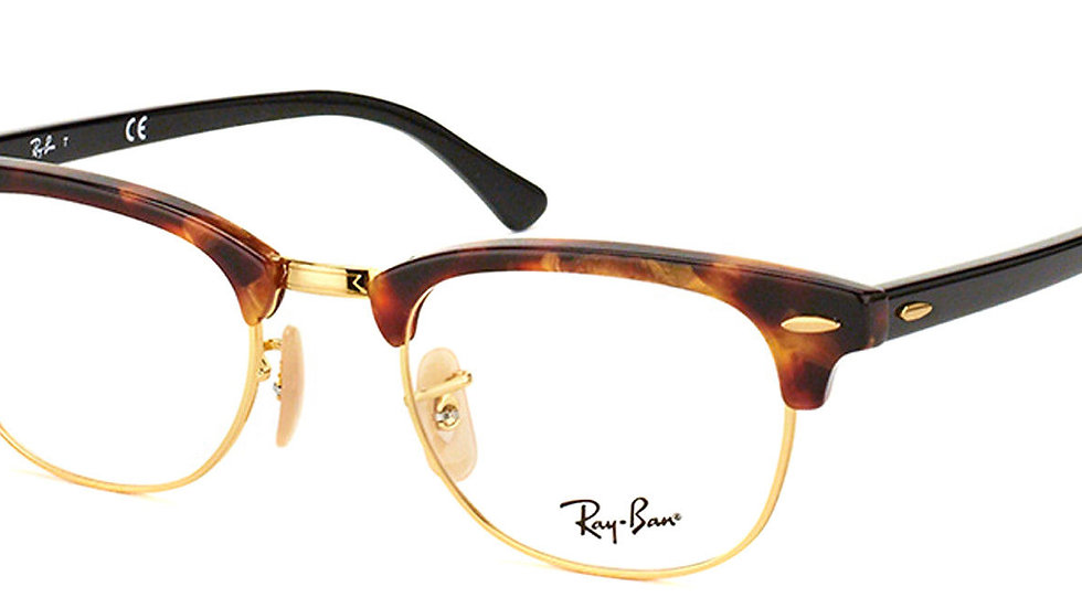 Ray Ban Clubmaster Brown Havana Gold Eyeglasses