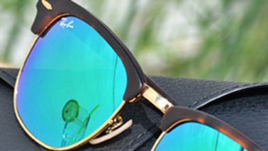 Sunglasses Green Round Shape Golden Frame Clubmaster
