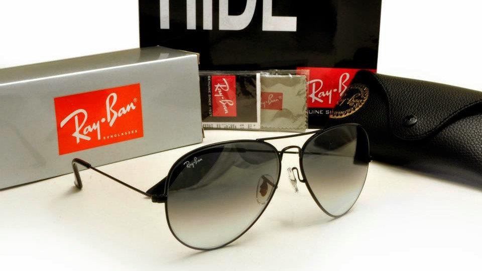 Black Aviator  Sunglasses Ray Ban