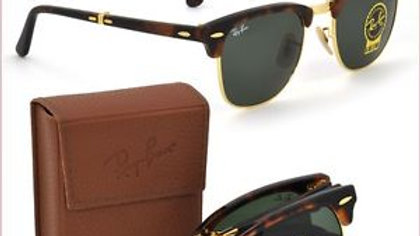 Ray-Ban Clubmaster Sunglasses  Brown & Gole Frame / Brown Lens!!!