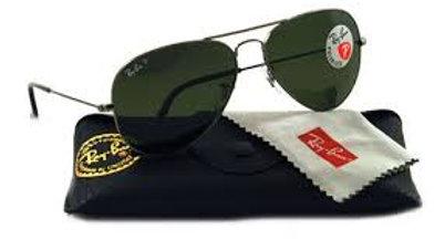Ray Ban Sunglasses Aviator  Black Lens / Black Frame Standard Size