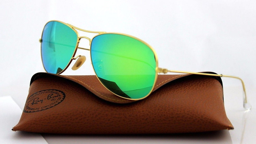 RAY-BAN Aviator Gold Green Flash Sunglasses