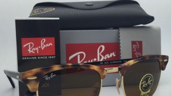 New RAY-BAN Sunglasses CLUBMASTER RB  Gold Frame w/Brown