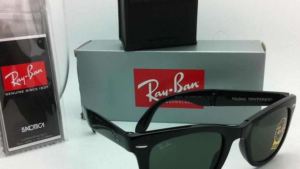Ray-Ban Sunglasses FOLDING WAYFARER RB Black Leness Green