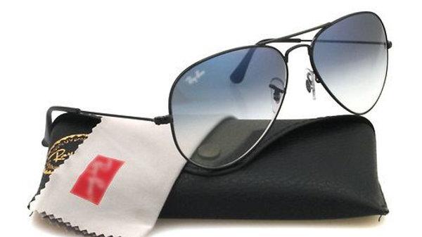 Black Blue Mirror Aviator Sunglasses