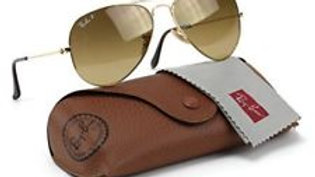 Ray-Ban Aviator Gradient Sunglasses - Gold / Brown