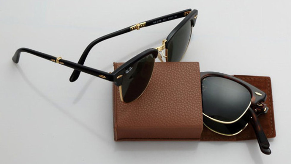 Ray Ban Clubmaster Sunglasses Black & Gold