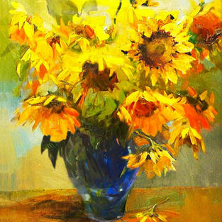 Sunflowers in the Vase